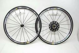 Mavic Aksium Elite Rim Brake Road Bike Wheelset + Yksion Tir