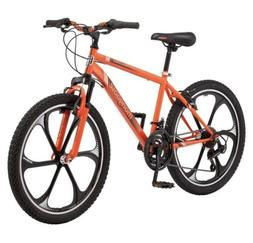 "24"" Boys Mongoose Alert Mag Wheel Bike, Orange"