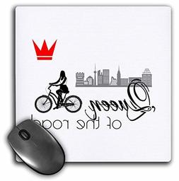 3dRose Alexis Design - Sport Bicycle - Queen of the road. Fe