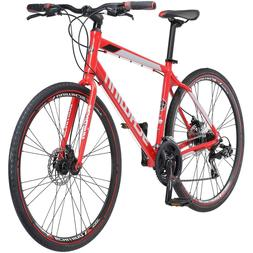 Schwinn Aluminum Bike 21 Speed Red 700C Men Hybrid Bicycle D