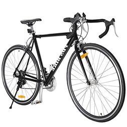 TOMTOP 54cm Aluminum Road/Commuter Bike Racing Bicycle 21 Sp