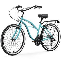 sixthreezero Around The Block Women's 21-Speed Cruiser Bicyc