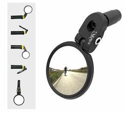 Hafny Bar End Bike Mirror, Stainless Steel Lens, Safe Rearvi