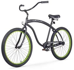 Mens Beach Cruiser Bicycle 26 Inch Bike Single Speed Summer
