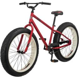"""26"""" Mongoose Beast Men's Fat Tire Mountain, Red Colour"""