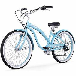 Firmstrong Bella Classic 7-Speed Beach Cruiser Bicycle, 26-I