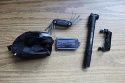 Bicycle Accessory Kit Pump Seat Bag Multi Tool Patch Kit Tir