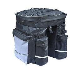 RUIX Bicycle Bags 3 In 1 Shelf Pack Bike Rack Bag Camel Pack