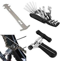 Luditek Bicycle Chain Splitter Cutter Breaker and 16 in 1 Bi