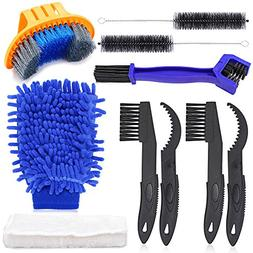 Oumers Bicycle Clean Brush Kit, 10pcs Motorcycle Bike Chain