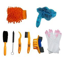 Hinsper Bicycle Cleaning Tool Kits 8 Pieces Bike Cleaning To
