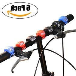 Bicycle Light, YuanGao 6 Pack Front and Rear Silicone LED Bi