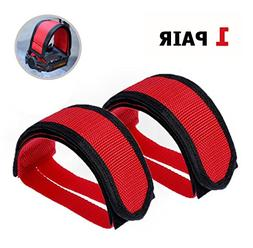 3 Pair Bicycle Pedal Straps Pedal Toe Clips Feet Straps Tape