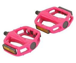 """BICYCLE PEDALS 9/16"""" ALLOY HOT PINK BMX BEACH CRUISER LOWRID"""