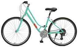 Retrospec Bicycles Motley Hybrid Bike 21 Speed, Viridian, 14
