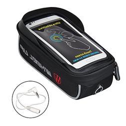 WATERFLY Bike Bag Frame Bike Bag with Waterproof Touch Scree