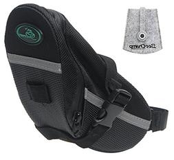BeeChamp Bike Bicycle Strap-on Saddle Bag Cycling Under Seat