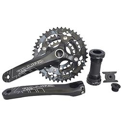 UPANBIKE Bike Crankset with Bottom Bracket for Road Bike Mou