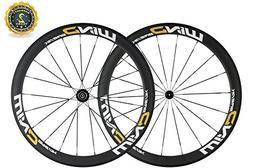 SunRise Bike 50mm Depth Carbon Fiber Wheelset 25mm Bike Whee