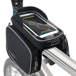 ROTTO Bike Frame Bag Bicycle Top Tube Bag Cell Phone Bag Wat