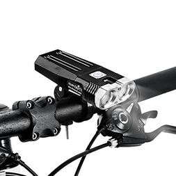 ITUO Led Bike Headlight Flashlight USB Rechargeable Programm