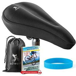 SuperSo Bike Gel Seat Cushion Cover - Premium Padded Bike Sa