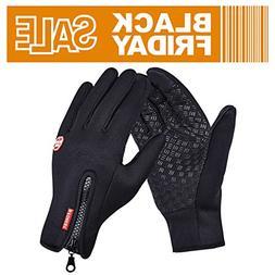 GEREE Bike Gloves, Full Finger Bike Touchscreen in Winter Ou