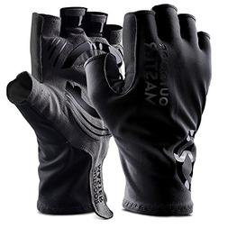 OutdoorMaster Bike Gloves - Fingerless Cycling Gloves with S