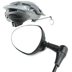 Race Icon Bike Helmet Mirror - Our Clear View Flat Lightweig