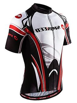 sponeed Men's Bike Jersey Cycling Thirts Race Fit Cyclewear