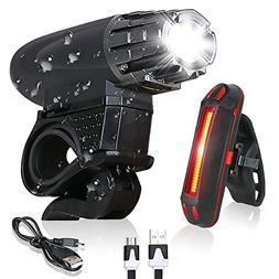Bike Light - USB Rechargeable Bicycle Light Set - Super Brig