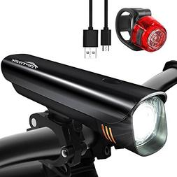 TOPTREK Bike Light Set Bicycle Lights USB Rechargeable Cycli