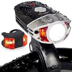 LuxPower Bike Light Set Rechargeable Galaxy 400 Lumens LED B