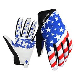 RIGWARL Bike MTB gloves with American flag pattern design fo