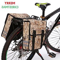 Bike Pannier Bag Durable Tote Bag Zipper Pockets Bicycle Rea