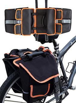 BV Bike Panniers Bags , Large Capacity, 14 L , Black with De