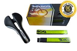 DOBIKE Bike Saddle with Guarantee +BONUS 2 Reflective Leg Ba