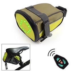 OKOMATCH Bike Saddle Bag With LED Indicator - Bicycle Under