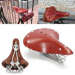 Bike Saddleback - 28x23x10cm Red Brown Bicycle Bike Cycling