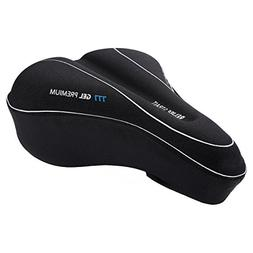 Bike Saddles Gel Seat Cushion Cover, Bicycle For Women And M