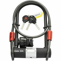 Bike U Lock with Vandalproof Cable – VIA VELO Heavy Duty B