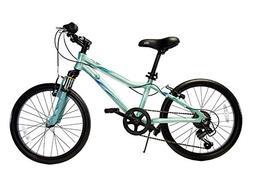 "Ryda Bikes Flow - 20"" Blue Youth Unisex Bike - 7 Speed All P"