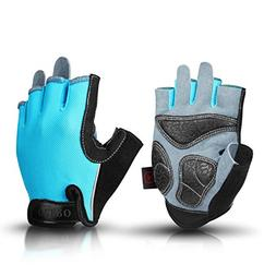 OZERO Biking Gloves Breathable Deerskin Leather Palm and Sho