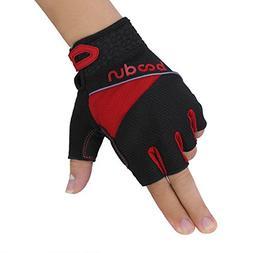 Unisex Biking Gloves,Antislip Cycling Gloves Half Finger Sil
