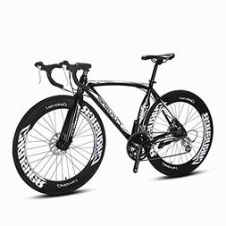 Cyrusher Black Aluminium Frame 54 cm 700C 70MM Mens Road Bik