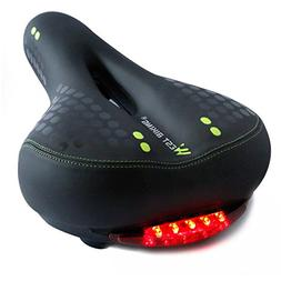 West Biking Black Gel Bike Seat, Bicycle Saddles Cushion Dua