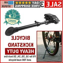 Black MTB Road Bike Side Kickstand Mountain Bicycle Adjustab