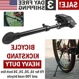Black MTB Road Bike Side Kickstand Bicycle Adjustable Alloy