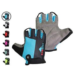 LuxoBike Blue Cycling Gloves Bicycle Gloves Bicycling Gloves