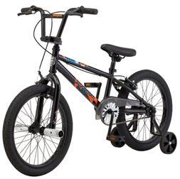 "BMX BIKE Kids Boys Bicycle 18"" Wheels Black Steel Frame Sing"